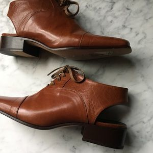 Vintage 80s Cut Out Leather Booties